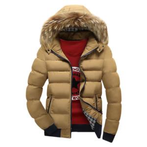 Kış Aşağı pamuk Ceket Erkekler 2018 Yeni Büyük Kürk Yaka Ceket Erkekler Parkas Kalın Sıcak Erkek Jaqueta Masculina Çok renk Coats