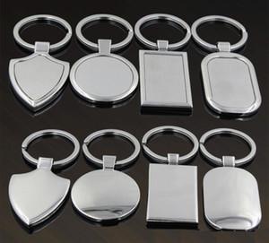 Etiqueta en blanco del metal llavero creativo del coche llavero personalizado de acero inoxidable llavero de publicidad de negocios para la promoción