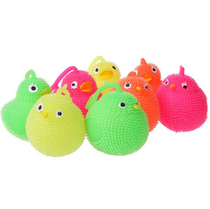 Cute flashing chick toy lighted up bouncing ball toys children chrsitmas gift Creative glowing chiken animal toys