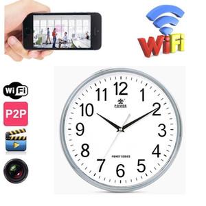 Cámara IP WiFi reloj de pared DVR P2P inalámbrica estenopeica Cam grabación de vídeo HD 1280 * 720P de detección de movimiento de la videocámara PQ272