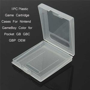 Cartouche de jeu Boîtier en plastique Cartes de jeu pour boîtes de rangement pour GameBoy Pocket GB GBC GBP Coque de protection, DHL FEDEX EMS LIVRAISON GRATUITE