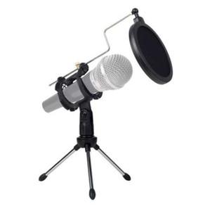 عالمي قابل للتعديل ميكروفون الوقوف ترايبود سطح المكتب لتسجيل الفيديو الكمبيوتر مع غطاء الزجاج البوب تصفية ميكروفون هيئة التصنيع العسكري