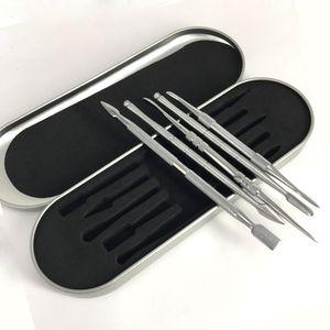 106-121mm dab tool kit Cire dabber tool set Boîte en aluminium emballage vax atomiseur titane ongles dabber outil Pour stylo vaporisateur d'herbe sèche