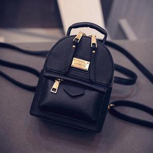 Мода Wobag рюкзаки женщина 2018 Мини PU кожаный рюкзак женский сплошной цвет Bookbag подарок Backbag Рюкзак школьный рюкзак для девочек Y18110201