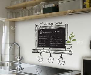 Spedizione gratuita Modern Romance cucina Lavagna Decal Lavagna Rimovibile impermeabile Vinile Wall Art Sticker Cucina decorazione della parete Y18102209