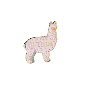 llama gift Lovely animal brooch Lama brooch Llama lover gift i hate drama brooch Alpaca jewelry Funny pin Hola amigos Animal lover gift