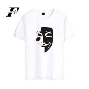 V слово Вендетта команда странная маска шею Т мужчин и женщин любителей all-match с коротким рукавом рендеринга без подкладки верхней одежды футболки мода
