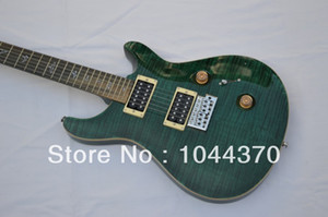 wholesale - 2013 New Arrival Green stripe Electric Guitar Very Beauty OEM bird inlay HOT free shipping
