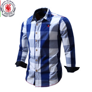 2018 neue Ankunft Herrenhemd Langarm-Shirt Mens Dress Shirts Marke Casual Fashion Business Style Shirts 100% Baumwolle 064