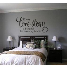 História de amor citação adesivo de parede diy decoração de casa arte da parede decoração decalque da parede outros adesivos decorativos