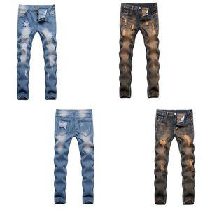 2018 New Korean jeans Men's Slim trousers teen casual pants men's trend feet pants size 28-38