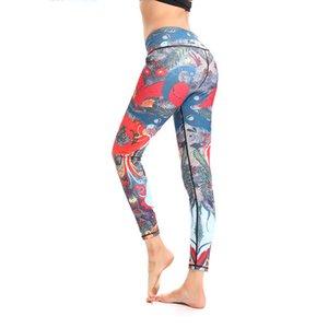 Leggings Mulheres Qickitout Push Up Impresso Legging Mulheres Leggings De Cintura Alta Cor Vermelha Leggings De Fitness