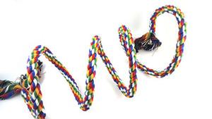 63 Zoll Vogel Barsch Seil Bungee Klettern Seile Swing Spielzeug Spirale stehend Papagei Spielzeug mit Glocke