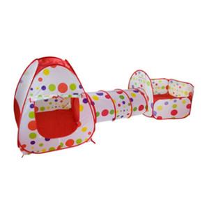 Vendita all'ingrosso FlyingTown 3 In 1 Tenda per bambini Pipeline Crawling Enorme Gioco Yard Ball Pool lodge MODA Tende giocattolo