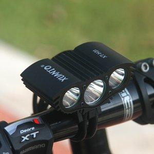 Luz de ciclo creativa creativa de la seguridad con la linterna de la bici del multicolor Cabeza de plástico a prueba de lluvia Grind Wear Resistir las luces delanteras principales 48xt jj