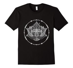 Lotus çiçeği süslü mandala sembolü manevi hediye t shirt