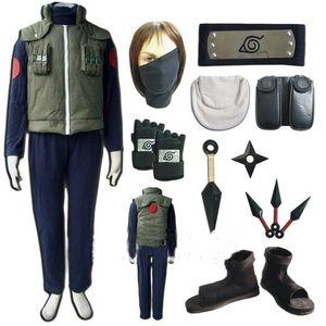 Naruto Hatake Kakashi Cosplay Costume and Shoes Full Set