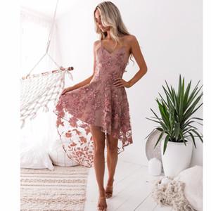 Hopeforth Sexy Hosenträger Unregelmäßige Spitze Nähen Kleid Bandage Frauen Kleid Casual Kleider Frauen Mode Lässig Rock