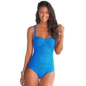 2017 New One Piece Swimsuit Women Plus Size Swimwear Retro Vintage Bathing Suits Beachwear Print Swim Wear Monokini M-XXXL