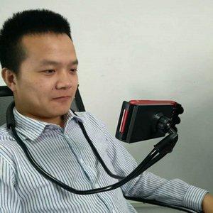 supports de support de téléphone de cou-support de support de selfie support de bureau univesal accessoires de téléphone portable de support 360 ° réglables de bonne qualité en gros
