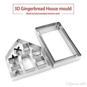 3D пряники дом наборы плесень полезные печенье плесень шоколадный торт выпечки инструмент стандартный из нержавеющей стали формы для выпечки 8 5mr ii