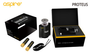 100% Original Aspire Proteus New Kit 18ml E-hookah Tanque duplo alternativa mais saudável 18650 Bateria para fumar shisha Penta bobina de cabeça 0.16ohm