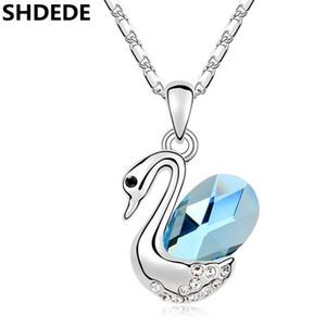 vendita all'ingrosso di cristallo di alta qualità da Swarovski Swan Pendant Necklace Woman Fashion Jewerly Female Ladies Accessories -10955