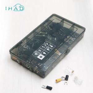 Caja de accesorios de rejilla de plástico 18 para Studio Screw / organizer Estuche para chips electrónicos para el hogar pequeño Cofre de herramientas de componentes