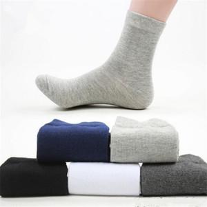 Yeni 5 Çift / grup Kaliteli Adam Rahat Çorap Erkek Yüksek Pamuk Erkekler Elbise Çorap Saf Renk Iş Tarzı Sonbahar Çorap erkekler