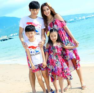 Daddy Mummy E Kids Family Roupas De Combinar Vestidos E T-shirt Duas Cores Roupas De Família