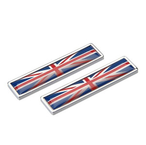 Car Styling Sides sticker Union Jack British Flag New Pair Metal Label 3D Car Stickers Auto Metal Emblem