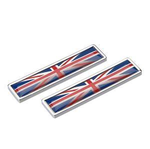 Car Styling Sides Aufkleber Union Jack Britische Flagge neues Paar Metal Label 3D-Auto-Aufkleber Auto Metall Emblem