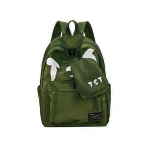 Мода студент пакет рюкзак лето новый колледж ветер Женщины сумки младший школа прилив ветер холст женская личность рюкзаки стиль