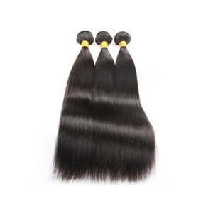 water wave straight human hair weave body wave cuticle aligned hair FREE SHIP WHOLESALE Virgin Weft Malaysian brazilian mink Hair BUNDLES