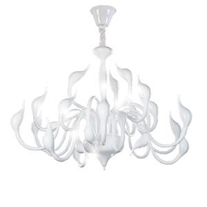 Swan lustre Chambre Chambre longue Chaînes Lustres Chargés Entrée Chambre LED Lumières Blanc Cadelier en fer forgé Rustique
