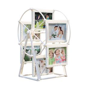 5 pouces blanc cadre photo cadres photo Ferris roue moulin à vent forme avec sculpture 12 pcs photo Home Decor nouveau cadeau