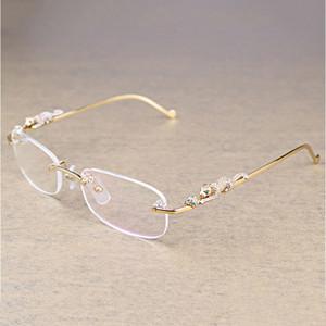 패션 타원형 투명 안경 남성 투명 스톤 돋보기 안경 액세서리 Oculos 안경 086