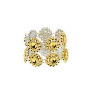 10 pcs / lot SHSEJA mariage serviette anneau cristal net diamant serviette anneau tournesol boucle hôtel décoration fournitures