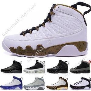 Дешевые новые 9 баскетбольных туфель Мужчины синий космос Jam Anthracite Copper Statue Barons Suede Fabric 9s IX Весенние спортивные теннисные мужские кроссовки