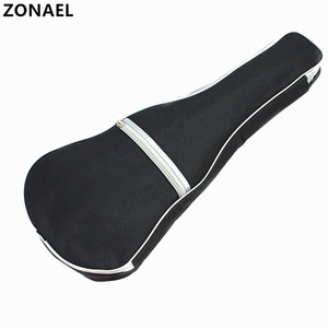 ZONAEL Ukulele Soft Shoulder Black Silver Carry Case Bag Musical With Straps For Acoustic Guitar Musical Instruments Parts Accessories