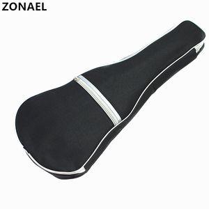 ZONAEL 우쿨렐레 소프트 숄더 블랙 실버 캐리 케이스 가방 어쿠스틱 기타를위한 스트랩 뮤지컬 악기 부품 액세서리