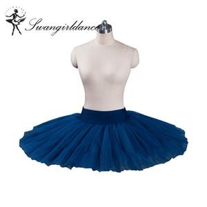 Navy blue practicing child classical half ballet tutu pancake tutu skirt BT8923
