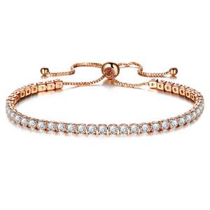 1 unids envío de la gota pulseras de cristal grande con Zircon plata oro brazalete blanco verde rosa púrpura verde piedra mujeres chica regalos BR016