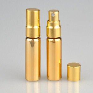2018 Les plus populaires Or Argent 5ml Mini Parfum Portable Rechargeables Atomiseur 5ml UV verre spray Bouteilles de parfum vides