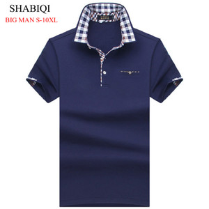 SHABIQI BIG MAN Men Shirt Mens Short Sleeve Solid Shirts Camisa s Masculina Casual cotton Plus size 6XL 7XL 8XL 10XL