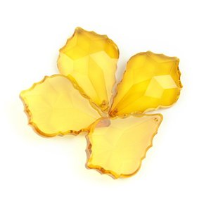 Amber 10PCS 50mm Glass Maple Leaf Prism Pendant As A Family Of Crystal Bead Curtain Accessories Present Best Seller