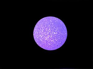 Dia 2.75 인치 수정 구슬 LED 밤 빛 램프 마술 다채로운을 바꾸는 야간 조명 RGB 색깔