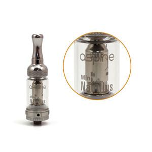 Projeto o mais novo Aspire Nautilus Mini Atomizer Glassomizer 1.8ohm inferior cigarro Vertical Bobina eletrônico Atomizador ajustável Airflow Tanque