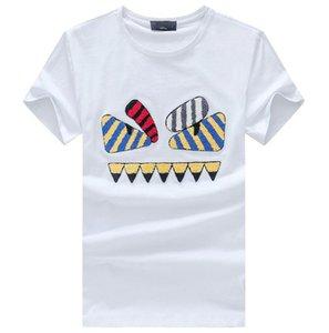 İtalya yaz kısa kollu t gömlek erkekler için tasarımcı şeytan gözler erkekler t gömlek erkekler için kazak nefes tshirt ücretsiz kargo
