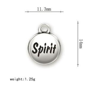Non sbiadiscono mai la lega in lega di zinco placcati Charms lettera Charms Spirito per gioielli rendendo Fit braccialetto fai da te